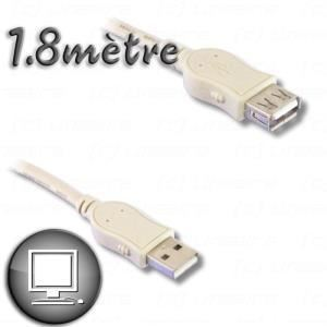 Rallonge USB 2.0 type A 1,80 m
