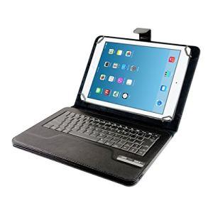 """Kwmobile 17003.2 - Etui universel en cuir avec clavier Bluetooth intégré pour tablette 10.1"""""""