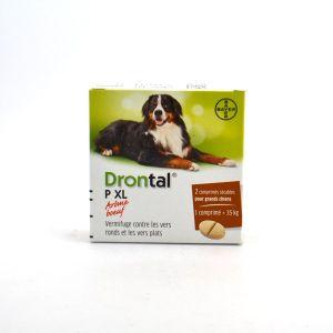 Bayer Drontal - Vermifuge 'Plus XL' pour chiens - Boîte de 2 comprimés