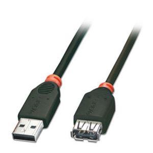 Lindy 31853 - Rallonge USB 2.0 type A M/F 20 cm
