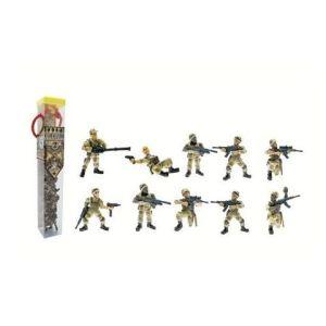 Plastoy Tubo de 10 figurines Soldats commando opération désert