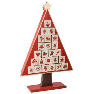 Comptoir de famille Atelier du Père Noël - Calendrier de l'avant en bois forme sapin
