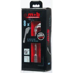 Mob 9015000501 - Jeu 6 clés à pipe 6 x 6 en boite carton