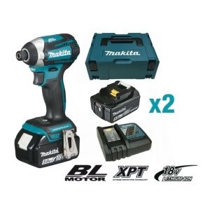 Makita DTD154RTJ - Visseuse à chocs 18V Li Ion 5Ah Hexagonal 1/4'' 175 Nm