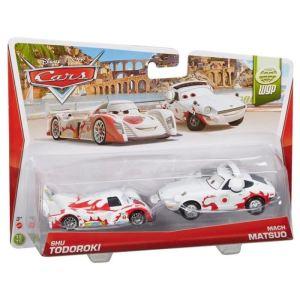 Mattel Cars - Pack de 2 véhicules blanc et rouge
