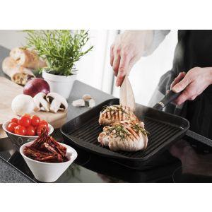 Skeppshult Poêle grill carrée 25 cm poignée en inox-fonte