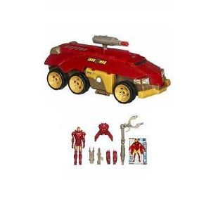 Hasbro Véhicule Rolling battle Headquarters et figurine (Iron Man 2)