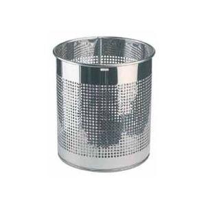 Rossignol (collecte déchets & hygiène) Corbeille à papier en inox perforée 15 L