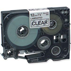 Brother TZe-131 - Ruban laminé noir sur transparent 12 mm.