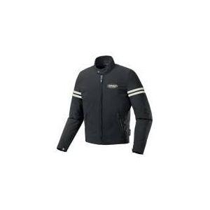 Spidi Ace (noir et blanc) - Blouson de moto textile pour homme