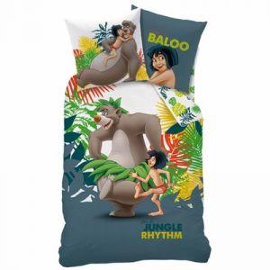 Parure housse de couette Baloo Mowgli Le livre de la Jungle (140 x 200 cm)