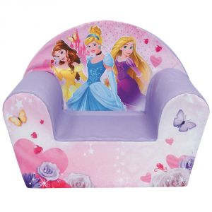 Jemini Fauteuil club en mousse déhoussable Disney Princesses