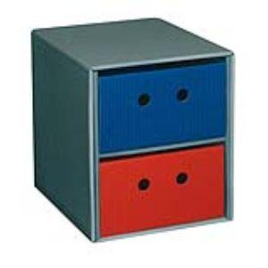 Fast 5070ASX1GK - Module de classement 2 tiroirs en carton