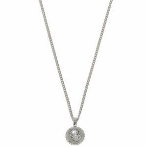 Guess UBN21529 - Collier et pendentif en métal rhodié Coeur pour femme