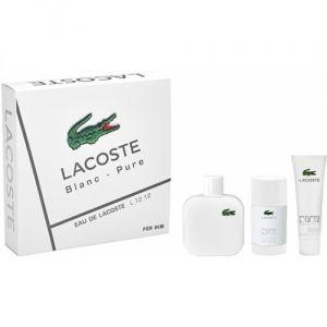 Lacoste L.12.12 Blanc : Coffret eau de toilette, déodorant stick et gel douche