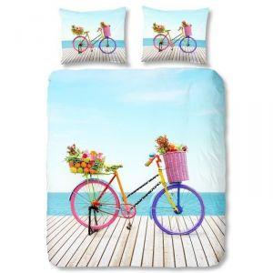 Good Morning Bicycle - Housse de couette et 2 taies 100% coton (220 x 240 cm)
