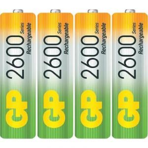 GP Batteries 4 piles rechargeables A LR06 2700 mAh