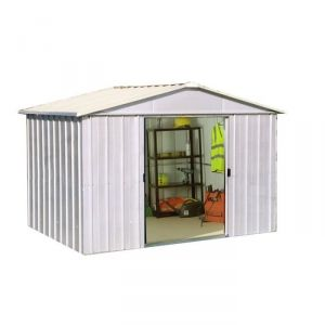 Yardmaster 810ZGEY - Abri de jardin en métal 7,21 m2
