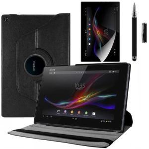 Kwmobile 15809 - Housse en cuir 360° Premium avec film de protection et stylet  pour Sony Xperia Tablet Z