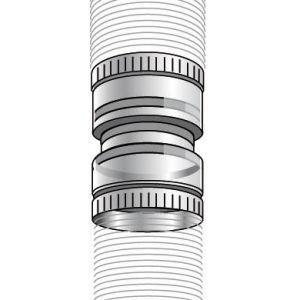 Ubbink 330081 - Raccord flexible à flexible Chemilux Condensation B22 - B23 PPTL diamètre : 80 Fioul Gaz