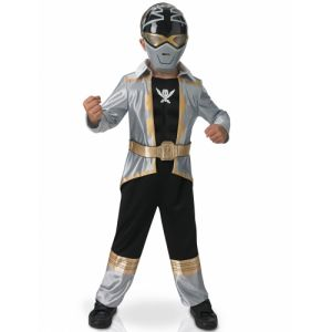 Déguisement 3d Eva Power Rangers silver super mega force enfant