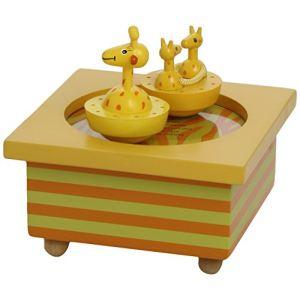 Trousselier Boîte à musique en bois Girafe