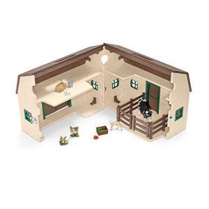 Schleich 42272 - Grange portative avec animaux de la ferme