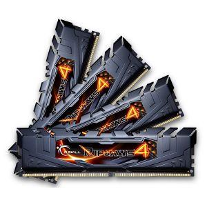 G.Skill F4-2800C15Q2-64GRK - Barrette mémoire RipJaws 4 Series Noir 64 Go (8x 8 Go) DDR4 2800 MHz CL15