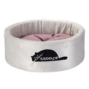 Beeztees Corbeille Snooze en peluche 40 x 40 x 15 cm