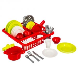BeToys Égouttoir avec vaisselle (34 pièces)