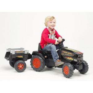 Falk / falquet Tracteur à pédales Farm King Xline 600 avec remorque