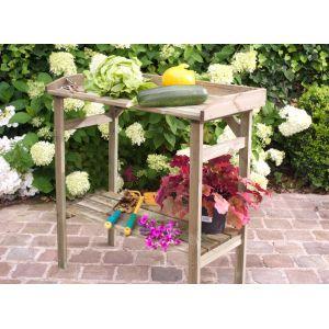 Forest Style Flora - Table de rempotage en bois 80 x 40 x 85 cm