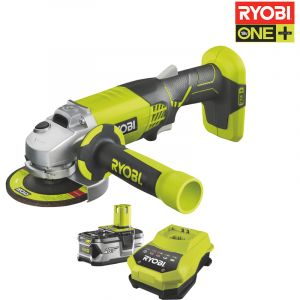 Ryobi OnePlus R18AG-L40S - Meuleuse d'angle 18V + Batterie Lithium-ion 4.0Ah + Chargeur