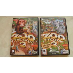 Zoo Tycoon 2 + Zoo Tycoon 2 : Espèces en Danger - Le jeu + l'extension sur PC