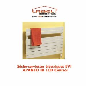 Lvi 3890032 - Sèche-serviettes Apaneo IR T avec thermostat infrarouge et soufflant 750 + 1000 Watts