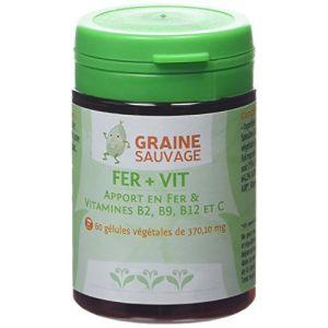 Graine sauvage Fer + Vit Pilulier de 60 Gélules