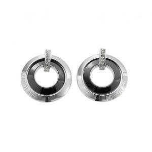 Cerruti R31259NZ - Boucles d'oreilles en acier et céramique