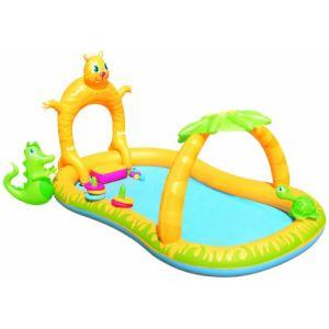 Aire de jeux gonflable avec piscine comparer 26 offres for Achat toboggan gonflable piscine