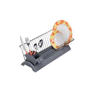 Zeller 24889 - Egouttoir à vaisselle en plastique et métal (14 x 22 x 42 cm)