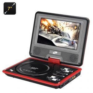 """High-Tech Place Lecteur DVD Portable 7"""" (Game Function, Rotatable Screen, eBook, Game Controller)"""