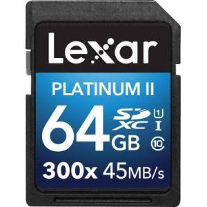 Lexar LSD64GBBEU300 - Carte mémoire SDXC Premium 64 Go 300x classe 10