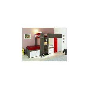 lits superpos s julien avec armoire int gr e 2 x 90 x 190. Black Bedroom Furniture Sets. Home Design Ideas