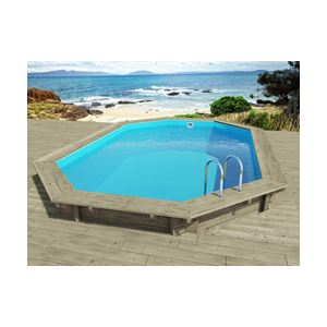 Viva pool florida piscine octogonale enterr e ou semi for Piscine bois octogonale semi enterree