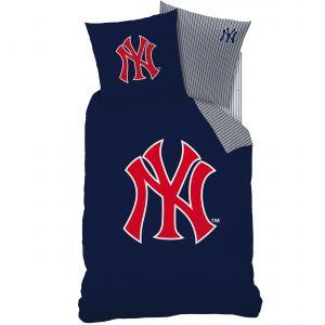 Cti New York Yankees - Housse de couette et taie 100% coton (140 x 200 cm)