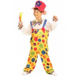 Déguisement de clown à pois