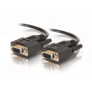 C2g 81365 - Câble série DB-9 (F)/(F) 5m moulé vis à oreilles