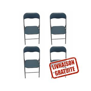 Ateca Lot de 4 chaises pliantes