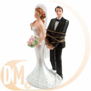 """Figurine couple de mariés """"Tu n'es plus qu'à moi !"""""""