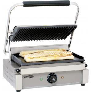 Casselin CGPLR - Grill panini plaques rainurée/lisse 2200 Watts