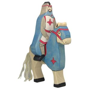 Holztiger Figurine Chevalier avec manteau à cheval en bois